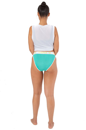 Kheper Bamboo High Cut Full Undies - Lime