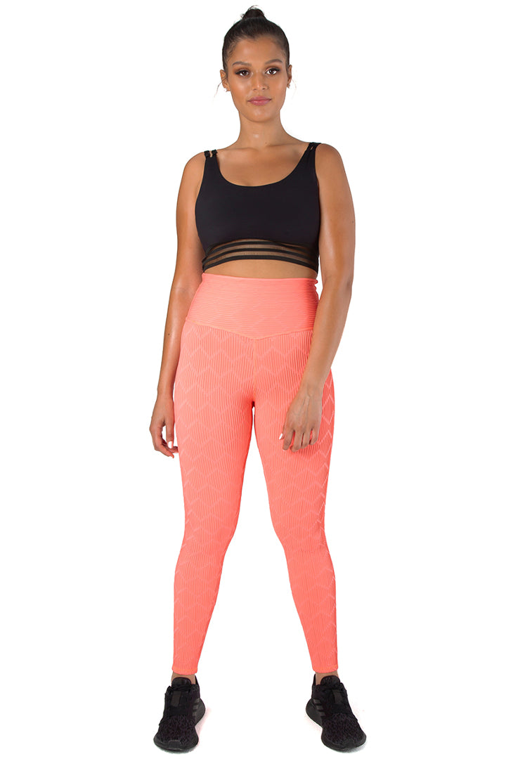 Kheper Soho Gym Tights - Limited Edition Coral Orange