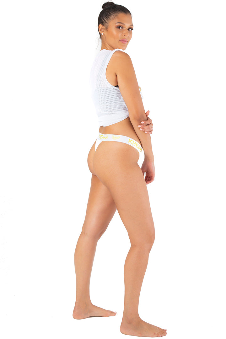 Kheper Bamboo Ladies Thong - White