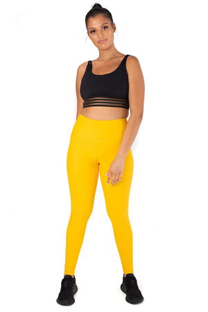 Kheper V POP High Waisted Tights - Yellow