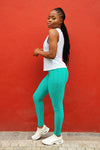 Ladies Gym TightsHigh Waisted Boho Blue Kheper
