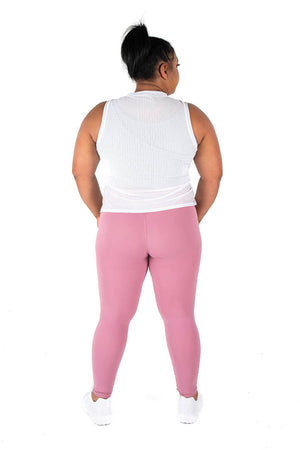 Kheper V Pop LuxeLush High Waist Tights - Pink