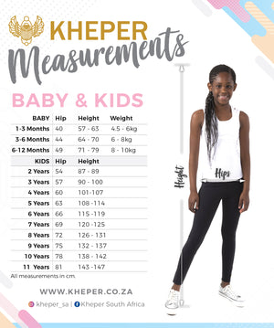 Size Guide Kids Leggings LuxeLush
