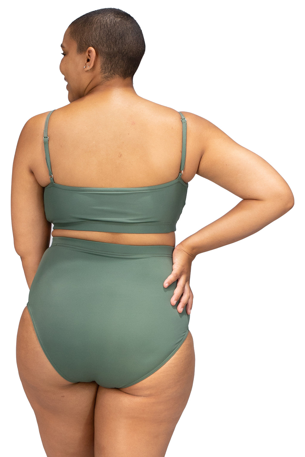 Bondi Brief - Olive High Waisted Bottoms