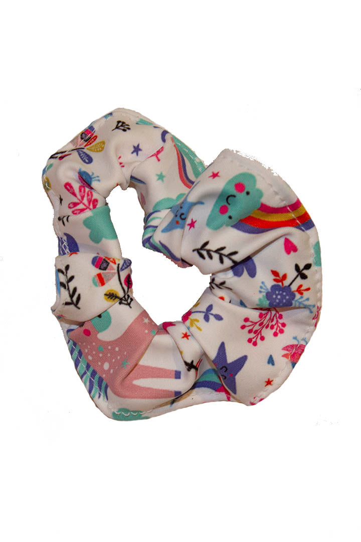 Unicorn Tea Party Kids Scrunchie Kheper