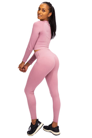 Ripped Seamless Crop - Soft Pink