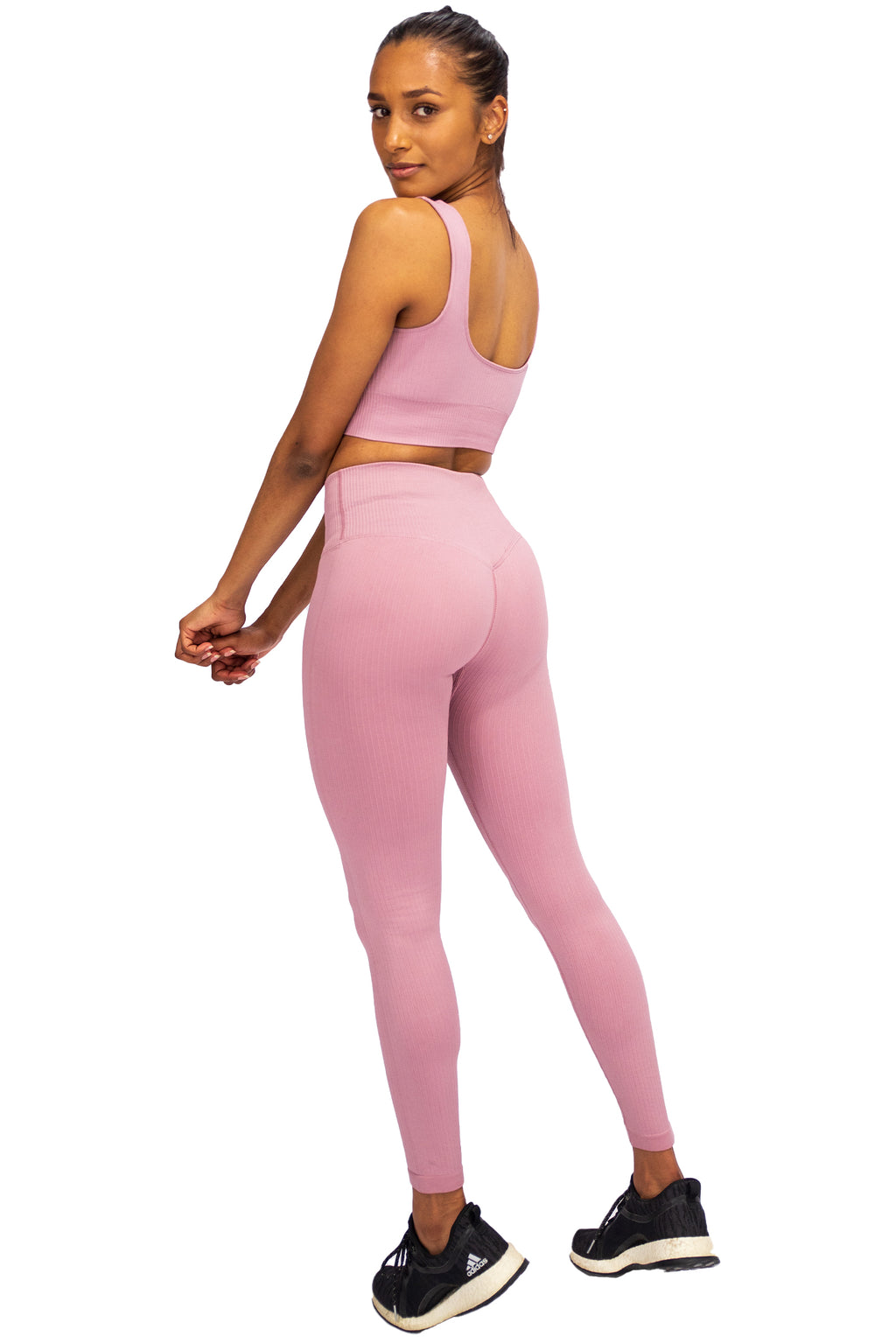 Ripped Seamless Leggings - Soft Pink