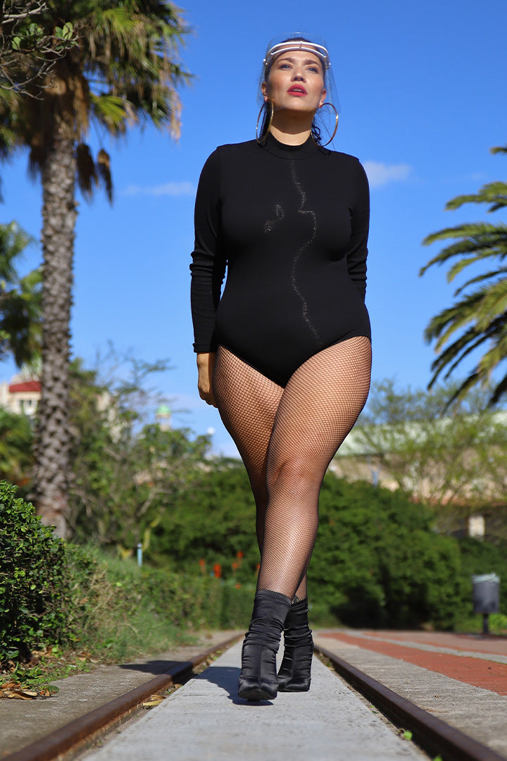 Ribbed Bodysuit - Black | Kheper