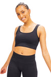 Ribbed Seamless Bra - Black