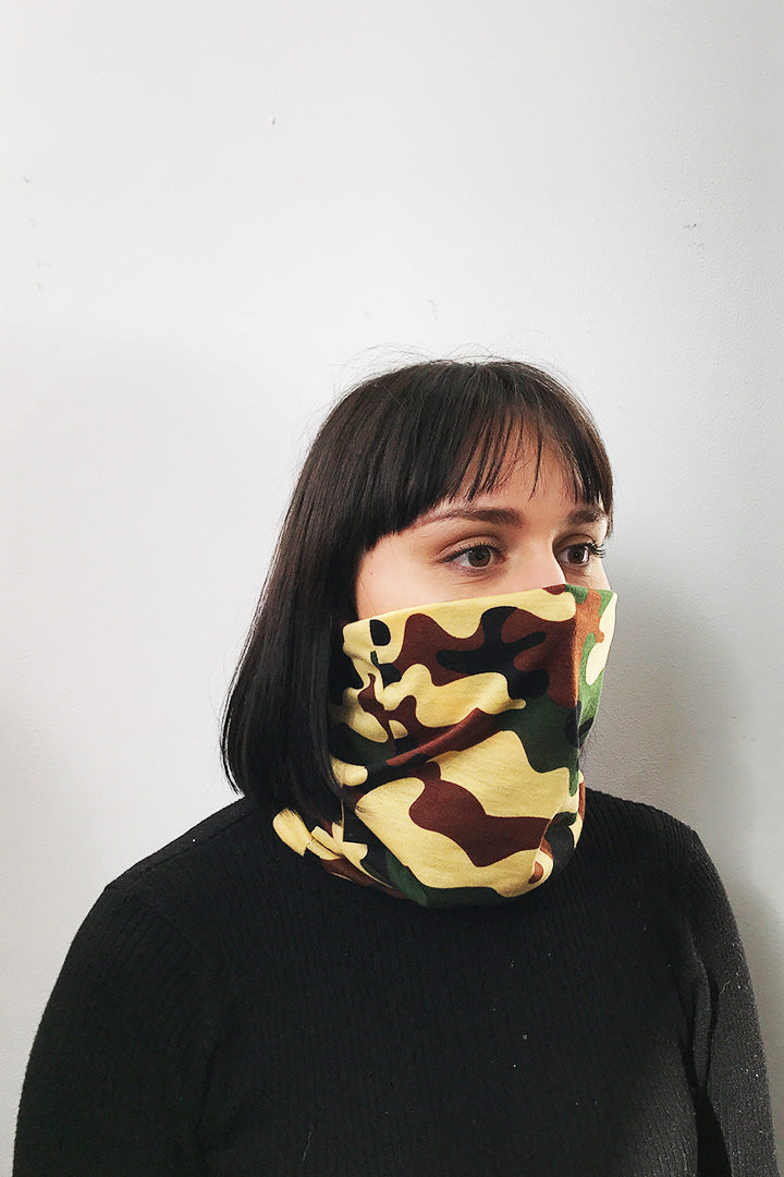 Face Buff Black Camo Kheper