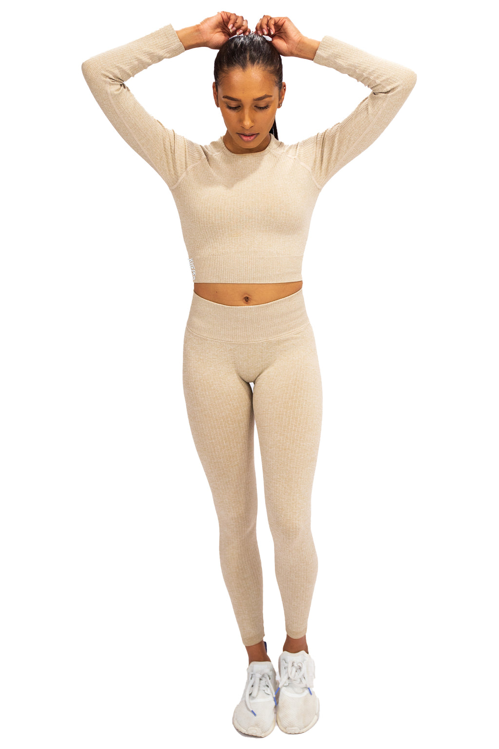 Ribbed Seamless Crop - Cream
