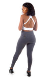 V POP High Waisted Tights - Grey