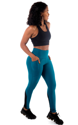 Pocket Tights - Teal
