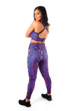 Kheper Viper Snake Skin Ladies High Waist Gym Tights
