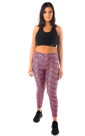 Kheper High Waist Printed Gym Tights  - Vixen