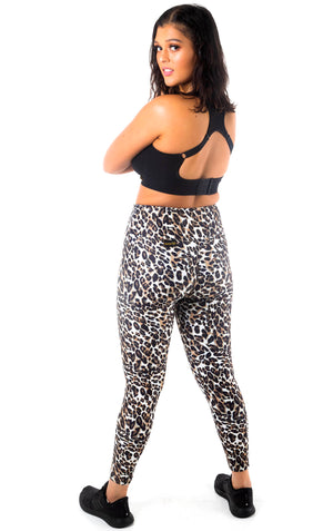 Cat Print High Waisted Tights - Wildside