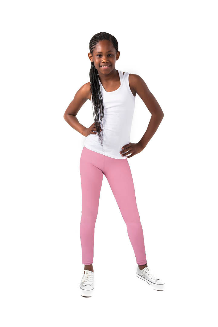 Kheper Pink LuxeLush Kids Leggings