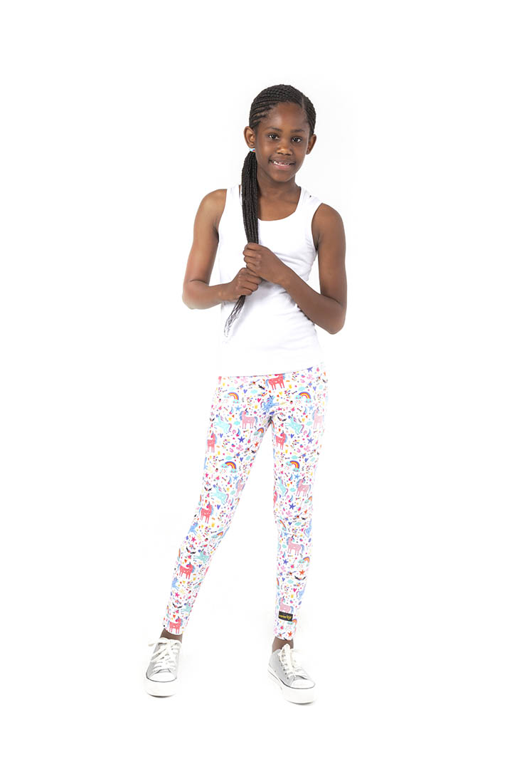 Kheper Kids Leggings - Unicorn Tea Party