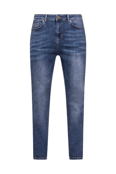 BLUE NON DISTRESSED JEANS - NOIR | LDN