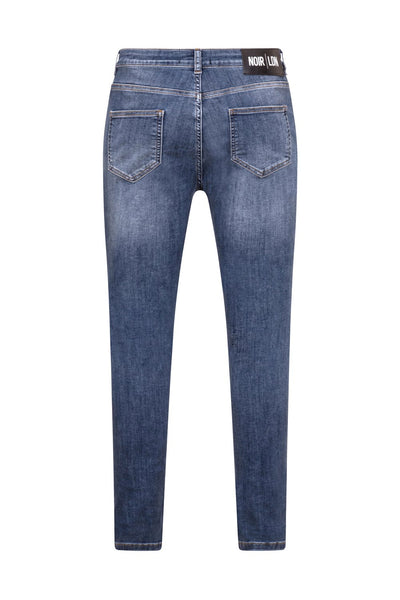 BLUE DISTRESSED JEANS - NOIR | LDN