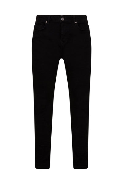 BLACK NON  DISTRESSED JEANS - NOIR | LDN