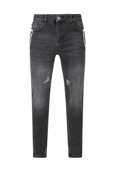 DENIM LETHAN PANEL JEANS - NOIR | LDN