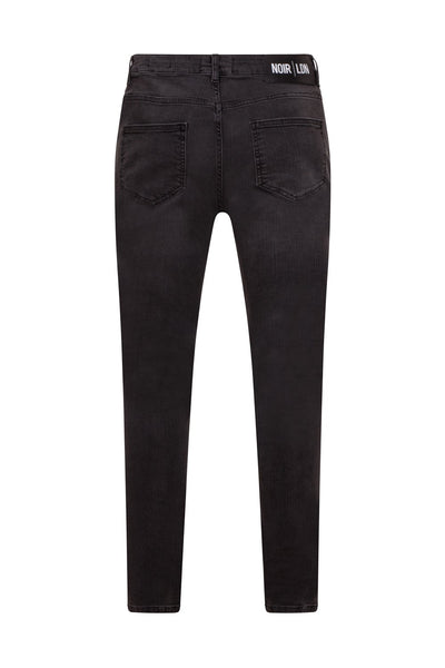 GREY NON DISTRESSED JEANS - NOIR | LDN