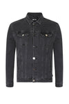 GREY TAPE DENIM JACKET - NOIR | LDN