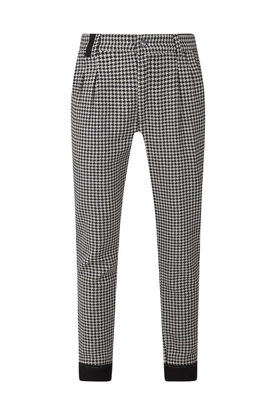 HOUNDSTOOTH PANEL TROUSER - NOIR | LDN