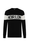 BLACK AND WHITE PANEL JUMPER - NOIR | LDN