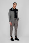 HOUNDSTOOTH PANEL TROUSER