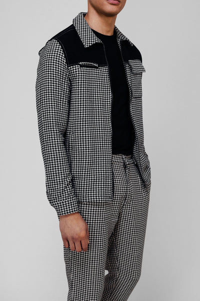 HOUNDSTOOTH PANEL JACKET