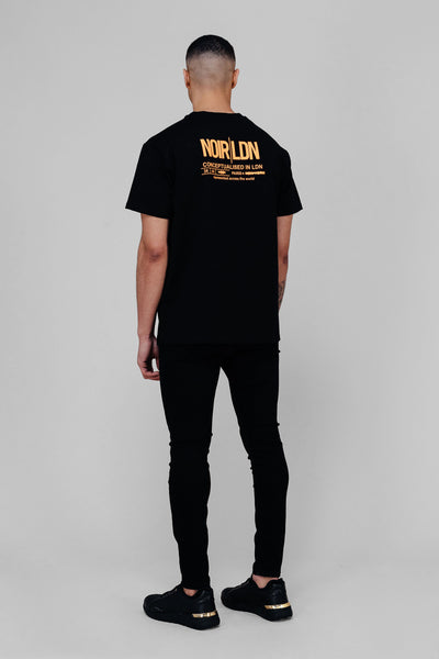 BLACK/ORANGE T-SHIRT