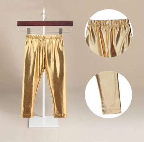 Gold Faux Leather Leggings