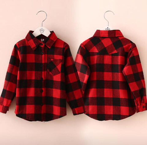 Unisex Red and Black Checked Shirt
