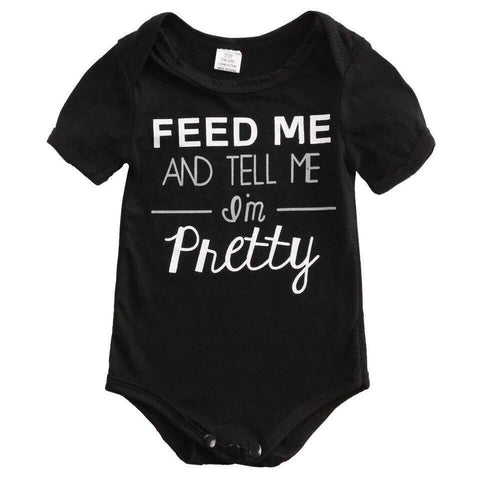 Feed Me and Tell Me I'm Pretty Baby Vest