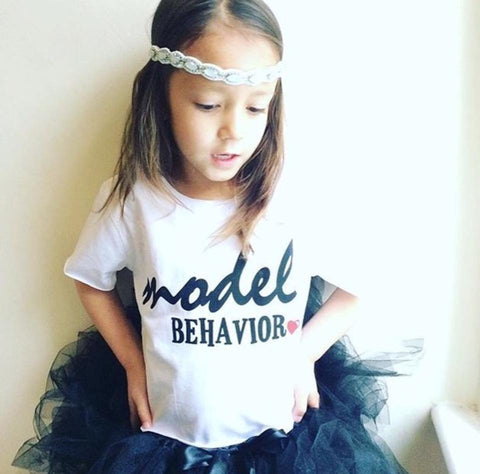 Model Behaviour T-shirt WHITE