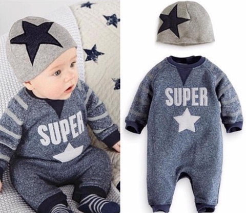 Super Star Romper with Hat