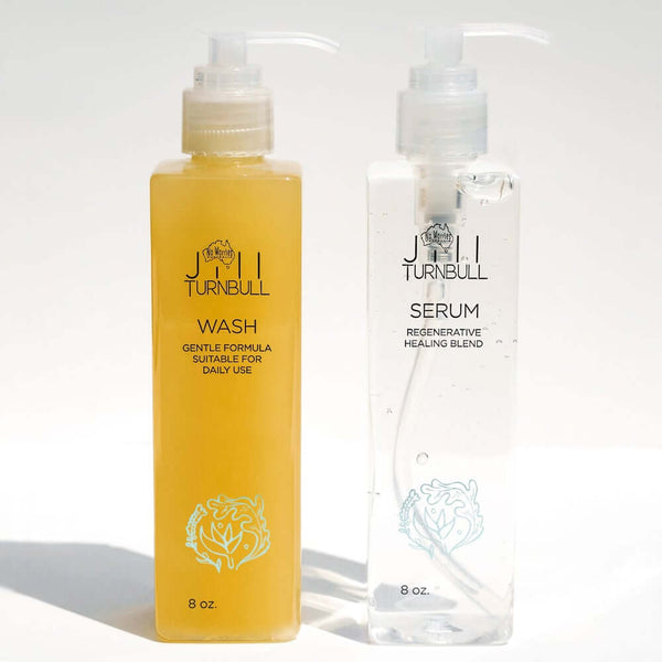 Blending the WASH and SERUM together as your shampoo creates the perfect cleansing process: powerfully regenerating and protecting your hair and scalp. With innovative green science, respecting nature, both WASH and SERUM are loaded with Aloe Vera and other healing goodies, helping to restore your hair to its healthiest condition. Vegan. Gluten, Sulphate, Toxin Free