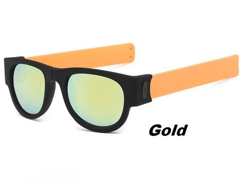 Wrap Mirror Lens Foldable Sunglasses