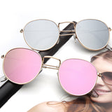Small Round Mirrored Sunglasses
