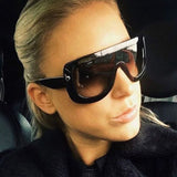 Oversized Thick frame fade sunglasses