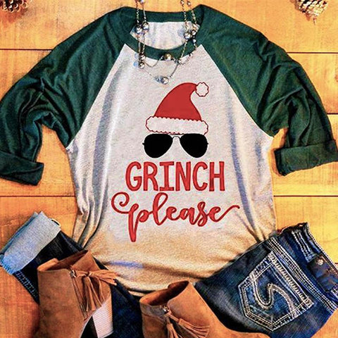Grinch Please - Christmas long sleeve