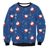 Snow Flake Santa Ugly Christmas Sweatshirt