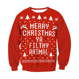 Merry Christmas Ya Filthy Animal Sweatshirt Crewneck