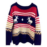 O-Neck Full Sleeve Simple Christmas Sweater