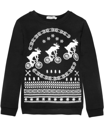 Reindeer Riding Bicycles Ugly Christmas Sweater