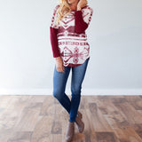 Weathered Pattern Jumper