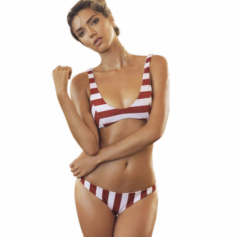 Brazilian Striped Bikini