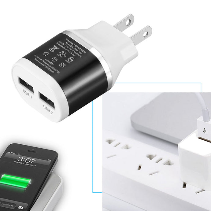 2 Port EU US Plug USB Charger High Quality Universal Quick Fast Phone Charge For iphone  Android Smart Mobile Phone ipad Tablet